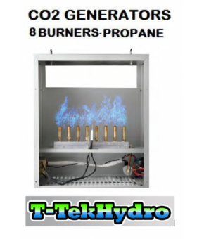T-TekHydro CO2 GENERATORS - 8 Burners - Propane