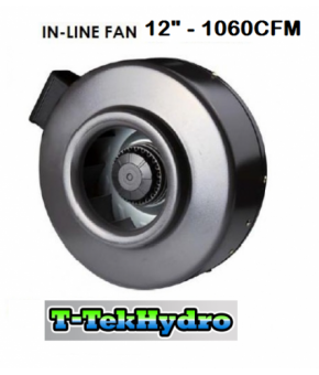 "T-TekHydro IN-LINE FAN 12"" 1060CFM"