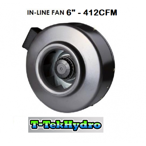 T Tekhydro In Line Fan 6 412cfm Super Deals Hydroponic
