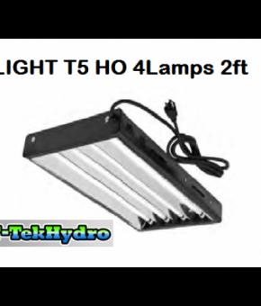 T-TekHydro T5 HO 4Lamps 2ft L Complete Fixture Kit