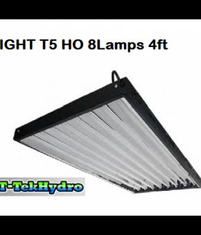 T-TekHydro T5 HO 8 Lamps 4ft L Complete Fixture Kit
