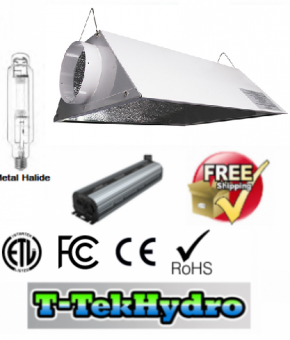 "ELECTRONIC DIMMABLE 1000W BALLAST FAN COOLED - 1000W Metal Halide GROW LAMP - Glloria Air-Cooled 6"" Reflector Complete Kit - FREE SHIPPING****"