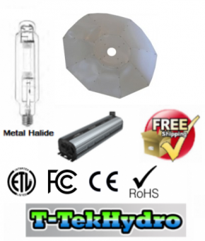 ELECTRONIC DIMMABLE 1000W BALLAST FAN COOLED - 1000W Metal Halide GROW LAMP - Parabolic White 4ft Reflector Complete Kit - FREE SHIPPING****