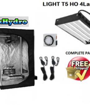 T-TekHydro GROW TENT 2 1/2ft x 2 1/2ft x 5ft - T5 HO 4 Lamps 2ft L - Kit - FREE SHIPPING****