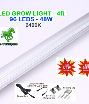 LED STRIP GROW LIGHT 4ft 96LEDS - 6400K - 48W